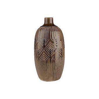 Vaso marrom de cerâmica 35 cm