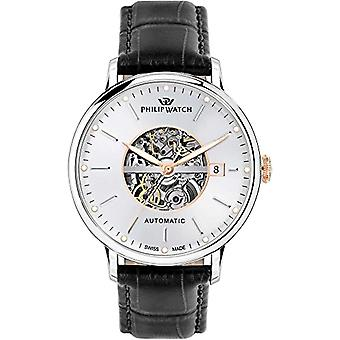 PHILIP WATCH Analog automatic men's watch with leather R8221595001