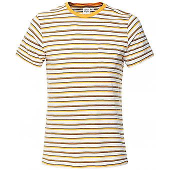 Hartford Crew Neck Vintage Stripes Pocket T-Shirt