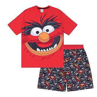 Die Muppets Tier offizielle Geschenk Jungen Kinder Loungewear kurze Pyjamas