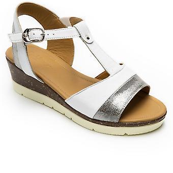 Padders Blossom Womens Wedge Heel Sandals