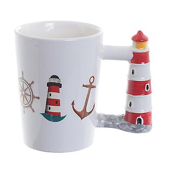 Puckator Seaside Lighthouse Shaped Handle Mug