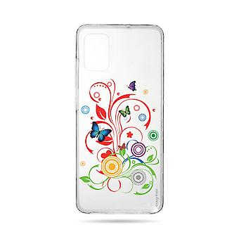 Hull For Samsung Galaxy A71 Flexible Butterflies And Circles