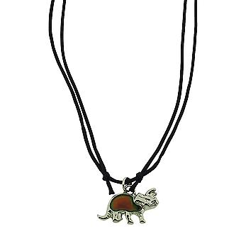 "TOC Children's Dinosaur Mood Pendant Necklace 14"" Cord FJ1915"