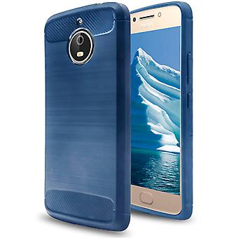 Shell para Motorola Moto E4 Plus Navy Carbon Armor Case Protection