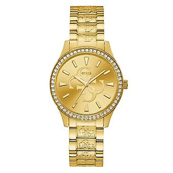 Guess Watches Ladies Stainless Steel Sunray Analog Watch W1280L2
