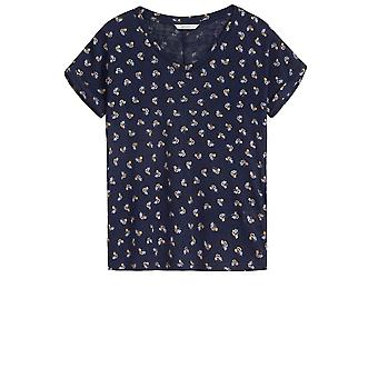 Sandwich Clothing Navy Floral Print T-Shirt