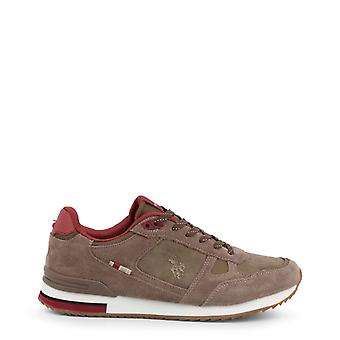 Man leather sneakers shoes ua50967