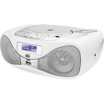 Dual DAB-P 160 Radio CD player FM AUX, CD, USB White