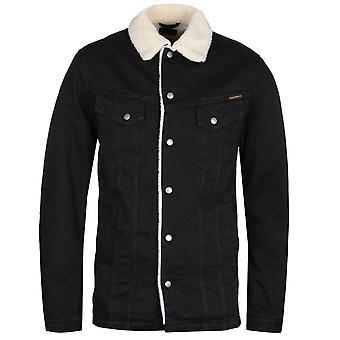 Nudie Jeans Co Lenny Black Shearling Jacket