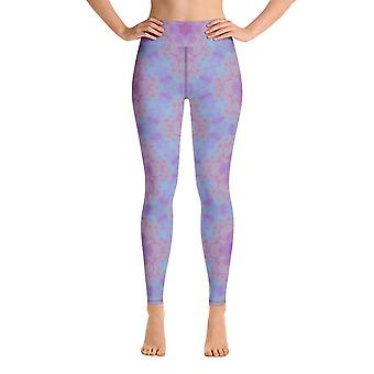 Leggings de treino | Leggings de Yoga | Floral Roxo