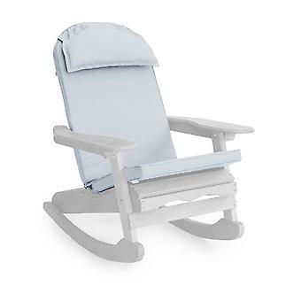 Gardenista Garden Premium Adirondack Lepotuoli Tuoli Istuintyyny | Vedenkestävä materiaali | Hypoallergeeninen vaahto täyttö | Ulkona Indoor Istumatyyny | Mukava ja kestävä (harmaa)