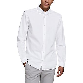 Jack & Jones Men's Button-Down Linen Shirt Slim Fit