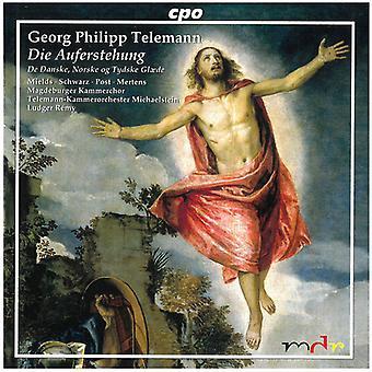 G.P. Telemann - Telemann: Die Auferstehung, importation USA de la danoise cantate [CD]