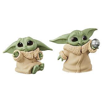The Mandalorian, 2x Baby Yoda Figures - No.