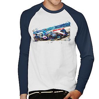 Motorsport Billeder Kimi Raikkonen McLaren Merc MP420 Mænd's Baseball langærmet T-shirt