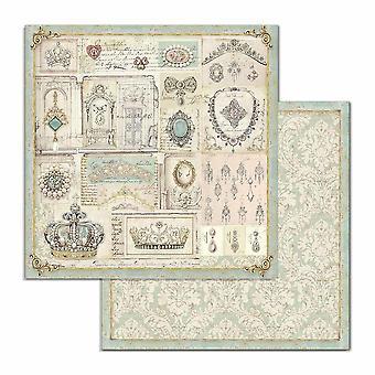 Stamperia Princess Jewellery 12x12 Inch Paper Sheets (10pcs) (SBB715)