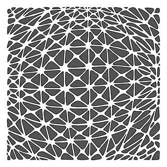 The Crafter's Workshop Geo Netting 6x6 Inch Stencil