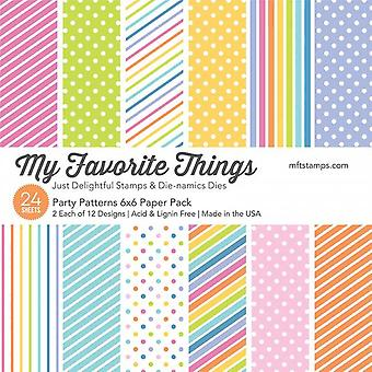 My Favorite Things Party Patterns 6x6 Paper Pack