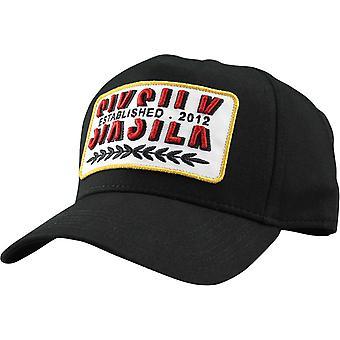 Sik Silk Patch Trucker Baseball Cap Black 48