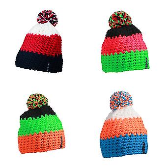Myrtle Beach Adults Unisex Crocheted Cap With Pompom