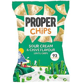 Proper Chips Sour Cream & Chive Lentil Chips
