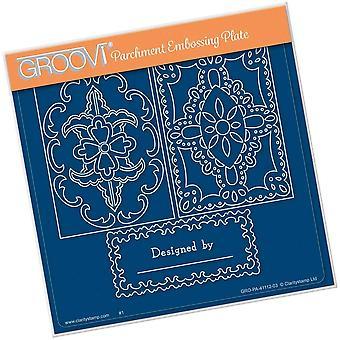 Groovi Josie's Perkament Trading Card A5 Square Plate