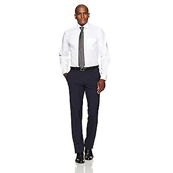 BUTTONED DOWN Men's Classic Fit Spread-Colle Non-Iron Dress Shirt (Pocket), ...