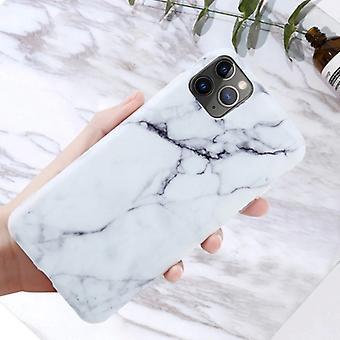 Moskado iPhone 11 حالة الرخام الملمس - صدمة لامعة حالة الجرانيت غطاء الغلاف TPU
