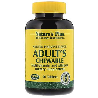 Nature's Plus, Adult's Chewable Multi-Vitamin and Mineral, Natural Pineapple Fla