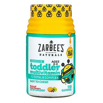 Zarbee's, Complete Toddler Multivitamin, Ages 2-4, Natural Fruit Flavors, 110 Gu