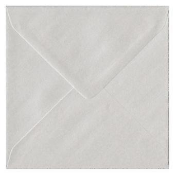 اللؤلؤ الأبيض الشمعي مغلفات بيضاء ملونة مربعة 130 مم. 100gsm ورقة مجلس رعاية الغابات المستدامة. 130 ملم × 130 ملم. بانكر نمط المغلف.