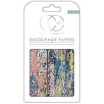 Craft Consortium Textured Wood Decoupage Papers