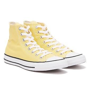 Converse All Star Hi Womens Butter Yellow Trainers