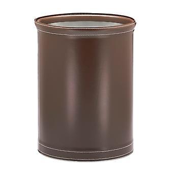 Panier à déchets cousu au chocolat cousu de 14 pouces