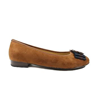 Ara Pisa 63361-70 Cognac Womens Slip On Ballerina Pump Shoes
