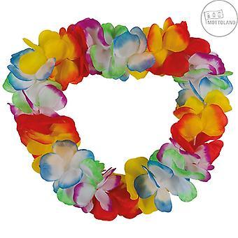 Hawaii Kette große Blüten bunt Hulakette Jamaika Halskette Blumenkette