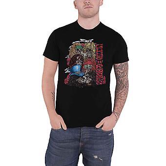 Guns N Roses camiseta apilada cráneos Vintage Banda Logotipo nuevo Oficial Negro