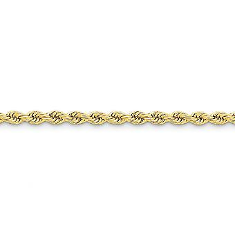 14k Yellow Gold Solid Lobster Claw Closure 5mm Handmade Regular Rope Chain Bracelet Lobster Claw Jewelry Gifts for Women