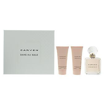 Carven Dans Ma Bulle Eau de Parfum 100ml, Shower Gel 100ml & Body Milk 100ml Set