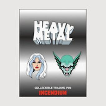 Heavy Metal Kavajslag Pin Set A USA import