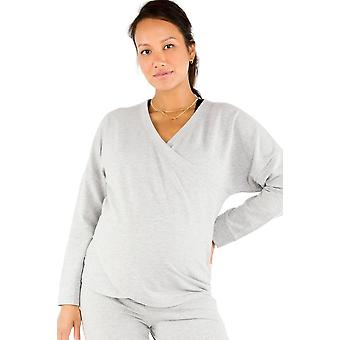 Belabumbum Cozy French Terry Surplice Nursing Sweatshirt