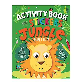 A4 Size Jungle Edition Children's Activity Book With Stickers