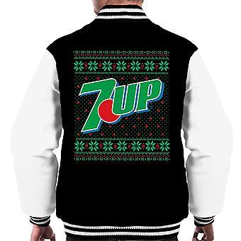 7up Jul Logo Stickad Design Män's Varsity Jacket