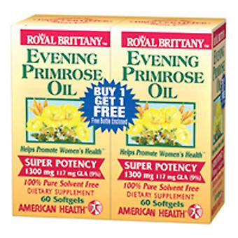 American Health Evening Primrose Oil Super Potens, 1300 MG, 60+60 softgels