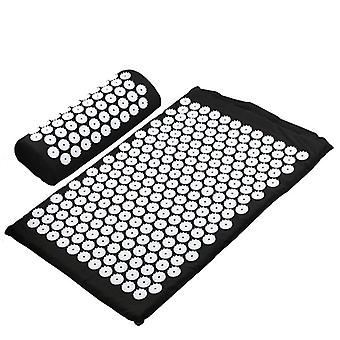 Massager Cushion Yoga Mat Acupressure Relieve Stress Back Body Pain Spike