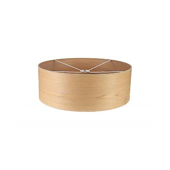 Araminta Round, 600 X 210mm Wood Effect Shade, Light Oak/white Laminate