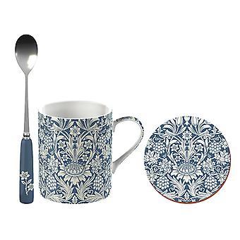 Victoria & Albert Can Mug, Spoon & Coaster Sunflower C000494