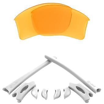 Polariserade ersättningslinser & Kit för Oakley Flak Jacket XLJ Gul & Vit Anti-Scratch Anti-Glare UV400 av SeekOptics