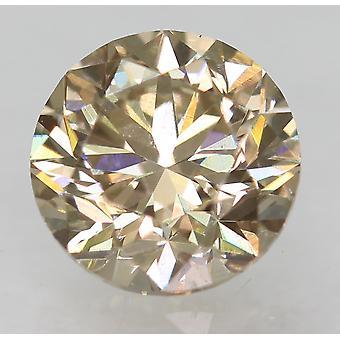 Cert 0.51 قيراط نزوة براون VVS1 جولة رائعة الماس الطبيعية فضفاضة 4.92mm